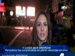 Reportera es interrumpida en vivo por 'Jack Sparrow' - Noticias de johnny depp